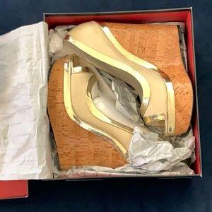 Adrienne Maloof cork wedge heels